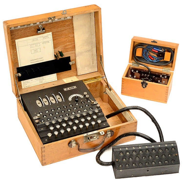 Ciphering Machine Enigma K-Model with Additional Lamp Panel, c. 1939