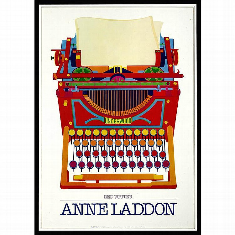 Typewriter Poster Red Writer, 1981