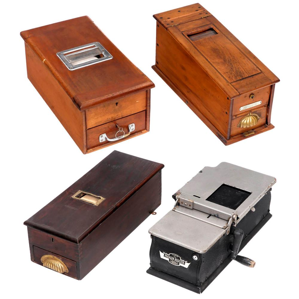 Four Cash Registers for Handwritten Accounts