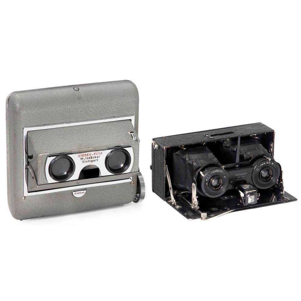 Ernemann Heag XV Stereo and Weizsäcker Stereo Viewer