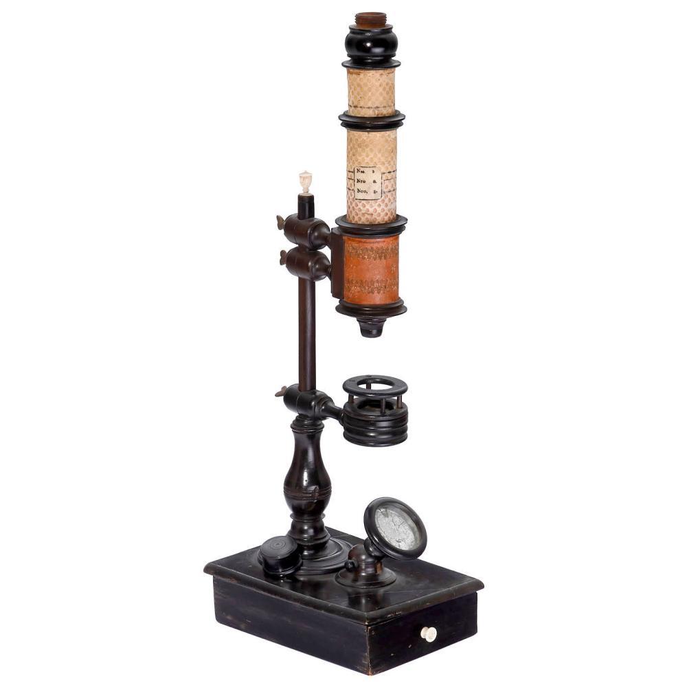 Nuremberg Cuff-Type Compound Microscope, 1750 onwards