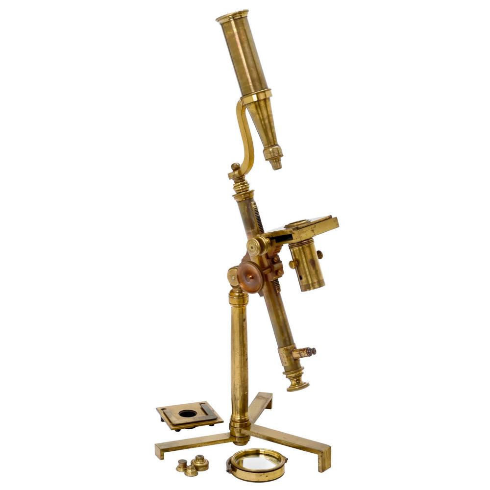 Early English Brass Compound Microscope, c. 1800