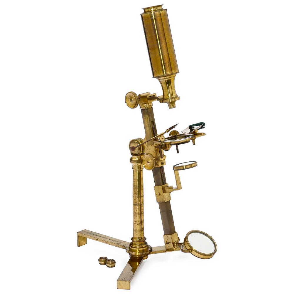 Early English Brass Compound Microscope by Jones, c. 1800