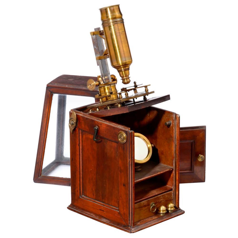 French Box Microscope, c. 1760