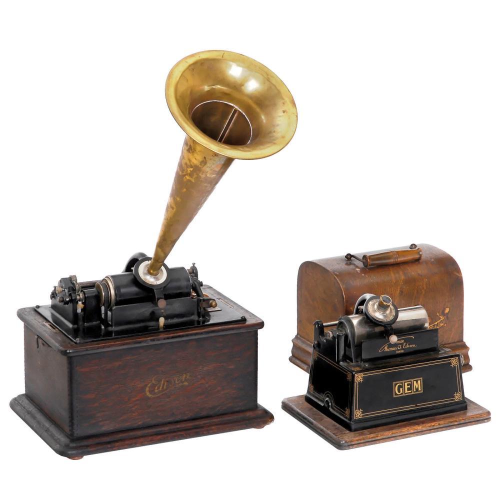 Two Edison Phonographs