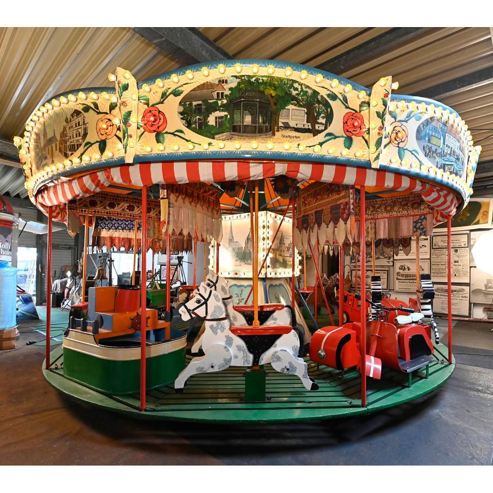 English Fairground Carousel, c. 1960