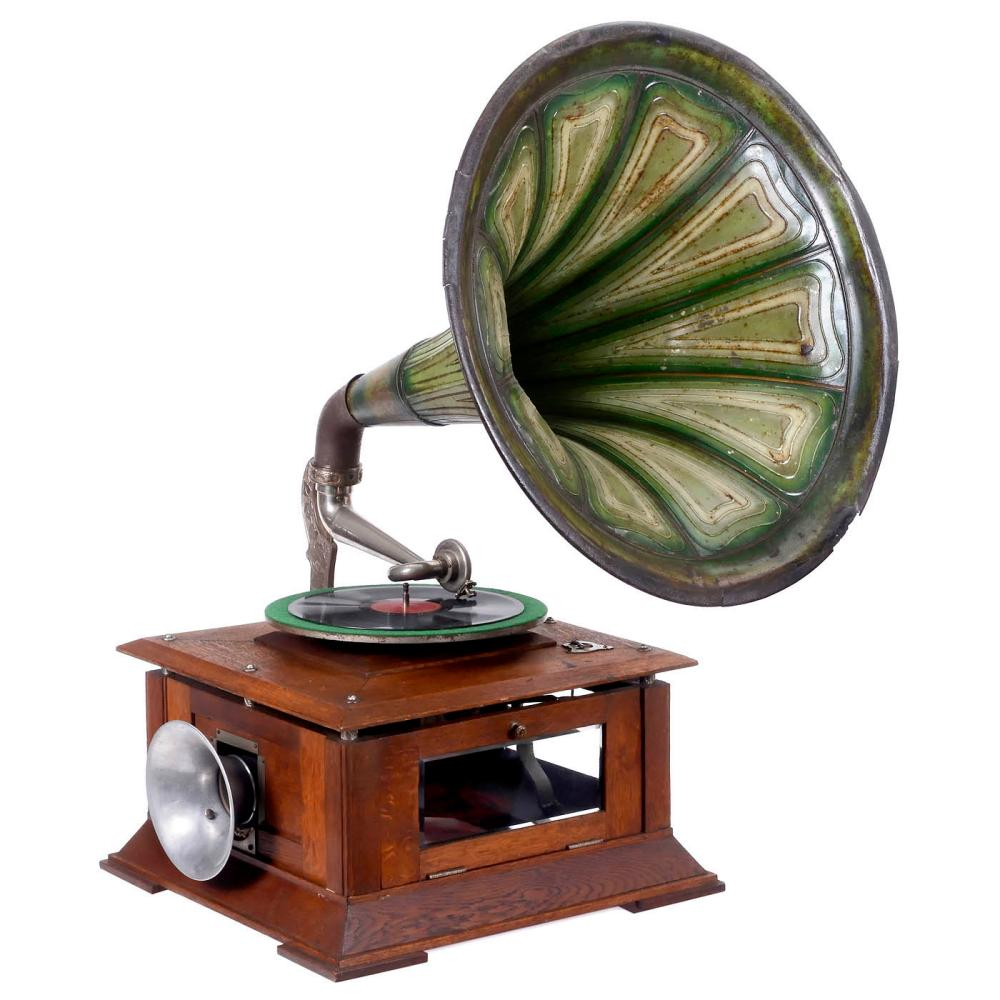 Maestrophone Hot-Air Engine Horn Gramophone, 1907