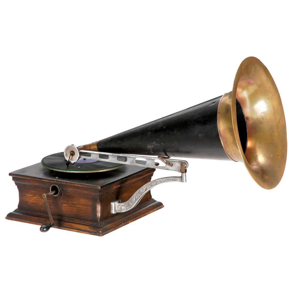 Traveling-Arm Horn Gramophone, c. 1904