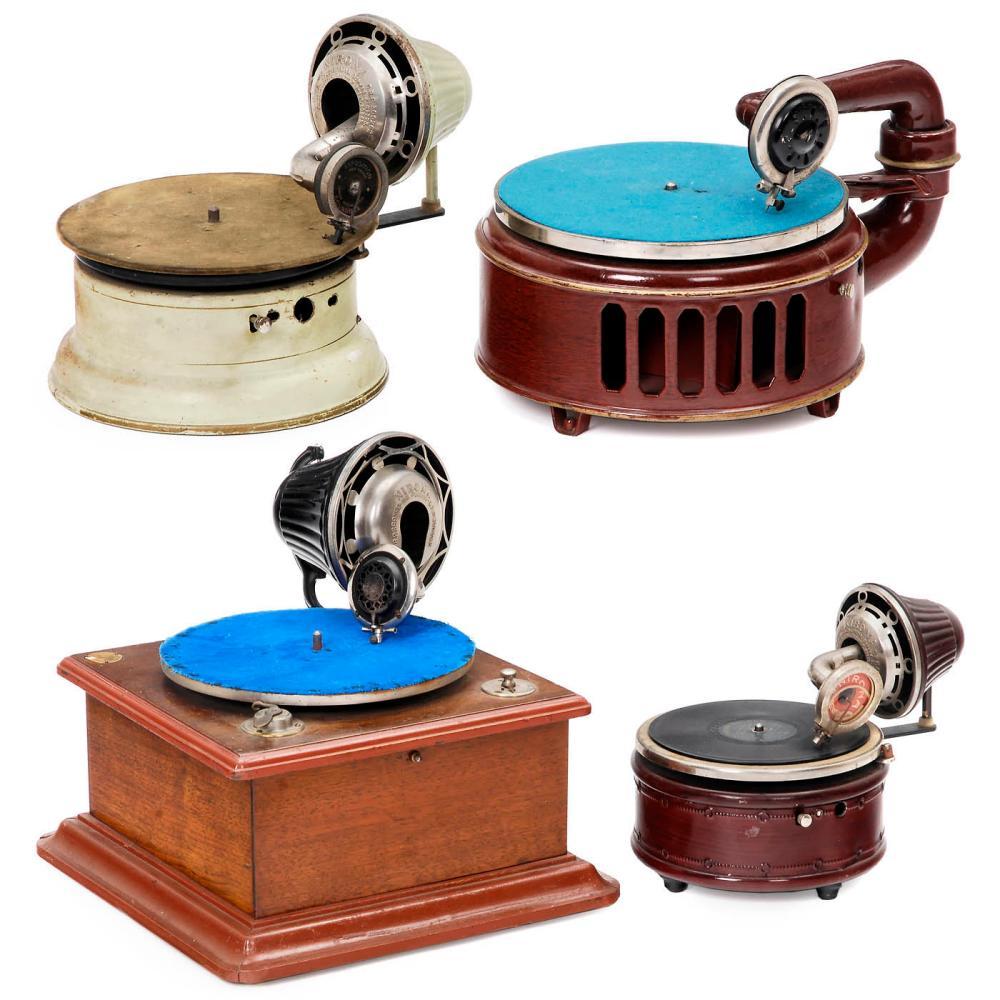 Four Gramophones