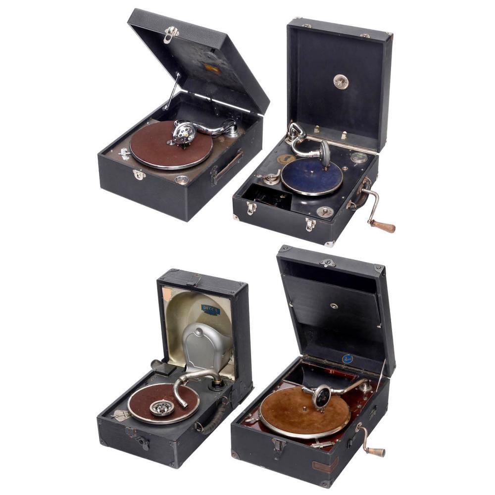 Four Portable Gramophones, 1925 onwards