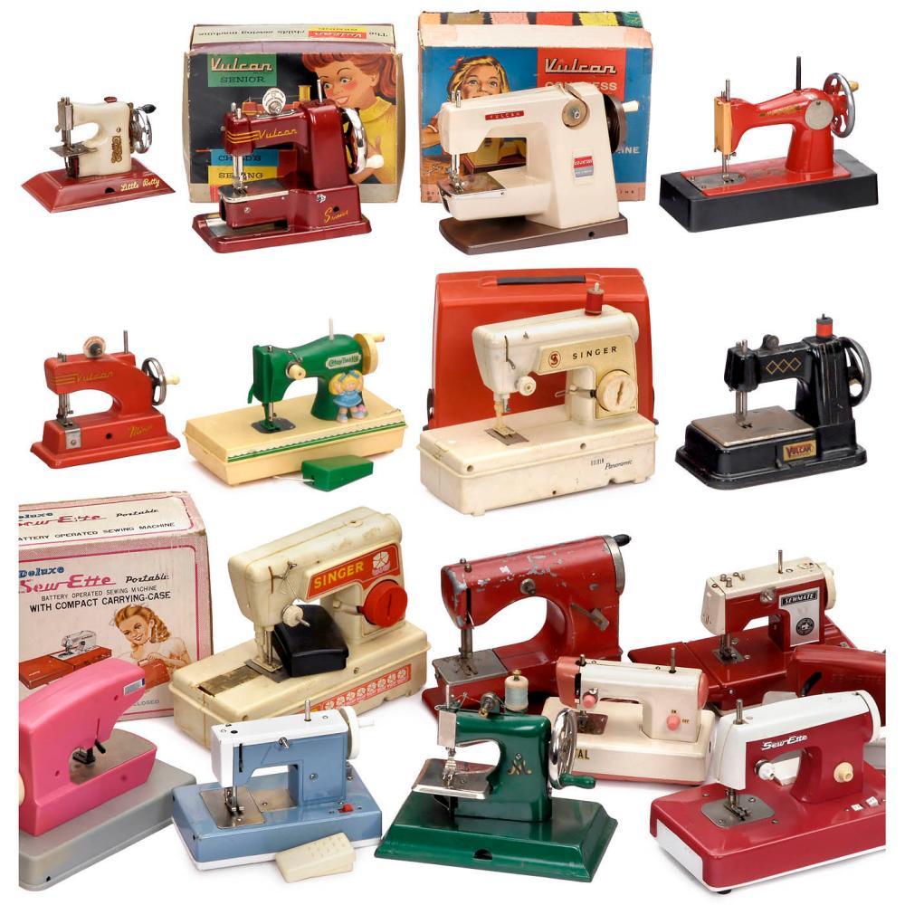 Twenty-four Toy Sewing Machines