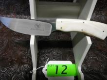 Arno Bernard Custom Knife - Grazer Series, Springbok, Warthog Ivory Handle, Blade  Material N690, Blade Length: 3.875