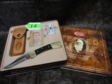2014 CASE XX USA 2159L SS Black Hammerhead Lockback Hunter With Sheath Oil & Stone in gift Tin