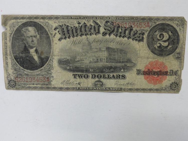 UNITED STATES NOTE. TWO DOLLAR LARGE SIZE SERIES OF 1917 NOTE