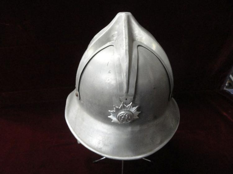 HUNGARY MOD 1935-38 HELMET OF FIRE BRIGADES OF ANTI-AIRCRAFT DEFENSE, MFG. BY GYOR CO.