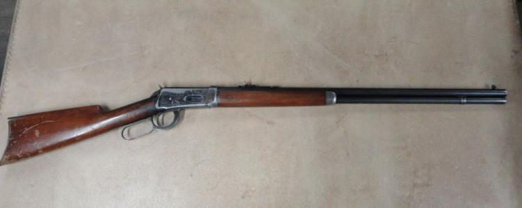 "WINCHESTER MODEL 94 LEVER ACTION RIFLE, SR # 1020764, .30 WCF CAL. 26"" ROUND BARREL, BLUE FINISH, WALNUT STOCK, MANUFACTURED IN 1926"