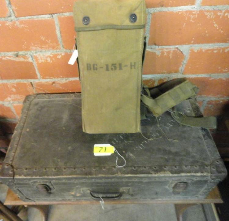 US WWII MINE DETECTOR WITH CASES AND CONTENTS (2 PIECES)