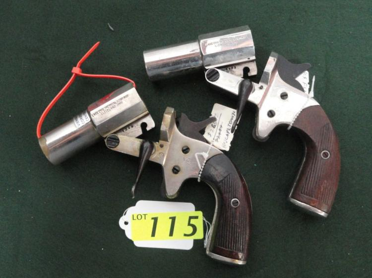 (2) U.S. FLARE GUNS LAKE ERIE CHEMICAL CO. (1) USED IN VIENNA CORRECTIONAL CENTERS