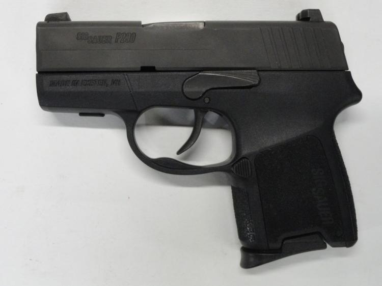 "SIG SAUER MOD. P290 SEMI-AUTOMATIC PISTOL, SR # 25B013959, 9 MM CAL. NITRON FINISH, POLYMER FRAME, 2.9"" BARREL, 6 ROUND MAGAZINE. EXCELLENT CONDITION"