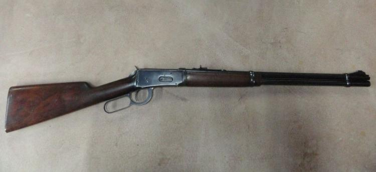 "WINCHESTER MOD. 94 LEVER ACTION CARBINE, SR # 1353492, .30-30 WIN. CAL. BLUE FINISH, WALNUT STRAIGHT GRIP STOCK, 20"" ROUND BARREL WITH FULL LENGTH MAGAZINE TUBE."