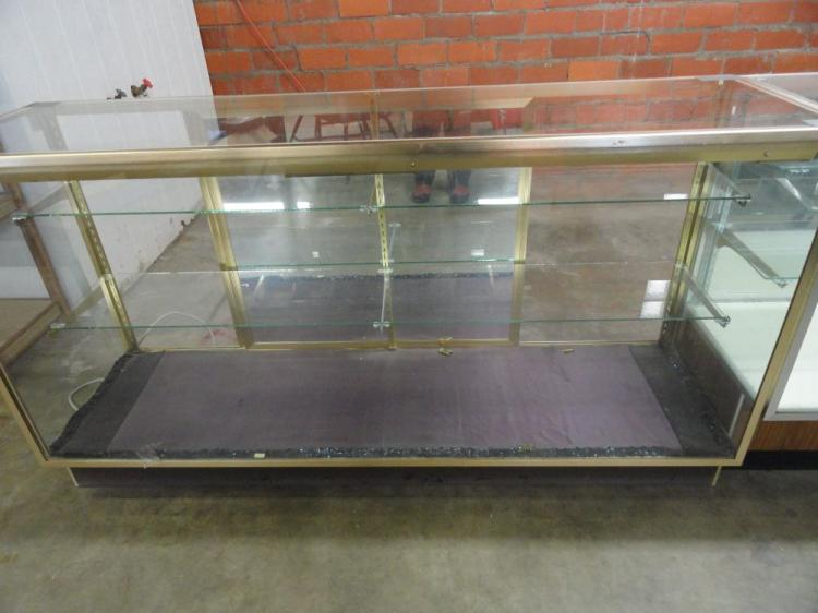 GLASS RETAIL/ JEWELRY TYPE DISPLAY CABINET- WILL NOT SHIP