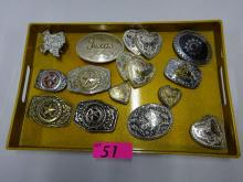 (14) TEXAS AND COLLECTOR BELT BUCKLES