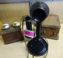 ANTIQUE TELEPHONE WITH BOXES