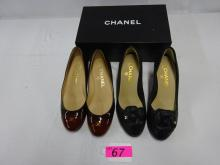 (2) PAIRS CHANEL SHOES,