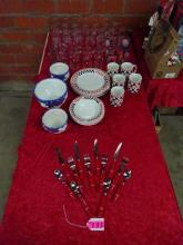 LARGE LOT OF COCA-COLA THEMED TABLEWARE