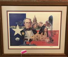 BILL BARRICK TEXAS SESQUINTENNIAL 1836-1986 S&N PRINT 460/500