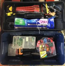 AKRO-MILS TOOLBOX WITH ASSORTED HAND TOOLS