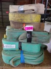 (4) LOTS ACE SPECIALTIES LIFTING STRAPS: (3) WITH 9; (1) WITH 8