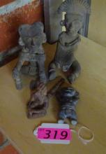 (4) PRE-COLOMBIAN STYLE CLAY FIGURES