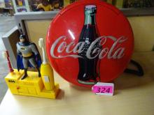 LOT OF COLLECTIBLES: (1) BATMAN ELECTRIC TOOTHBRUSH SET; (1) COCA-COLA PHONE