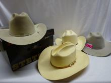(4) MEN'S COWBOY HATS
