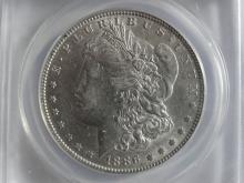 1886 ANACS MORGAN SILVER DOLLAR AU55