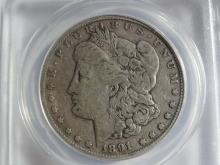 1891-CC ANACS KEY DATE MORGAN SILVER DOLLAR VF20