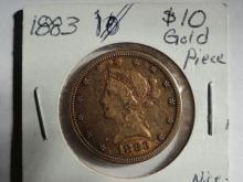 1883 $10 LIBERTY HEAD GOLD PIECE