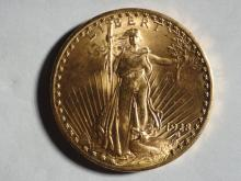 1928 ST GAUDENS $20. GOLD COIN MS