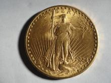 1924 ST GAUDENS $20. GOLD COIN MS