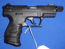 WALTHER MOD. P22Q SEMI-AUTO PISTOL, SR # Z126595, 22 LR CAL. BLACK FINISH, 4.5