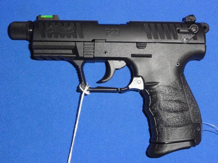 WALTHER P22 TACTICAL SEMI-AUTO PISTOL, SR # WA072939, 22 LR