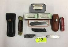 (9) ASSORTED KNIVES: