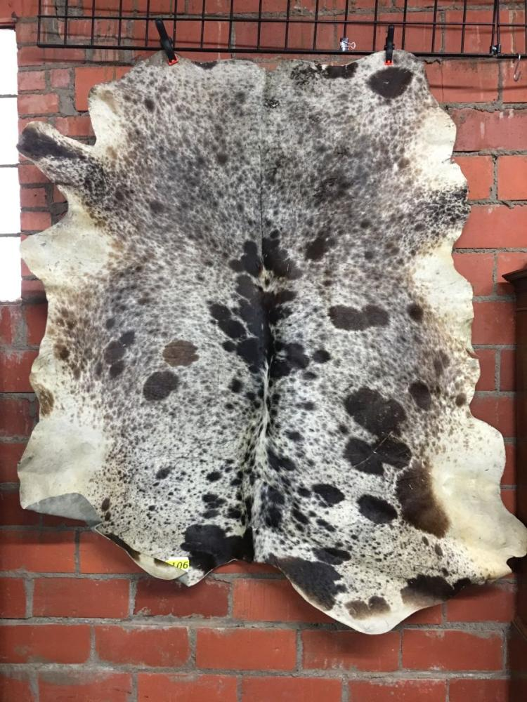 TANNED COWHIDE- size is @4'5