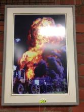 RIG FIRE FRAMED PHOTO (44.5