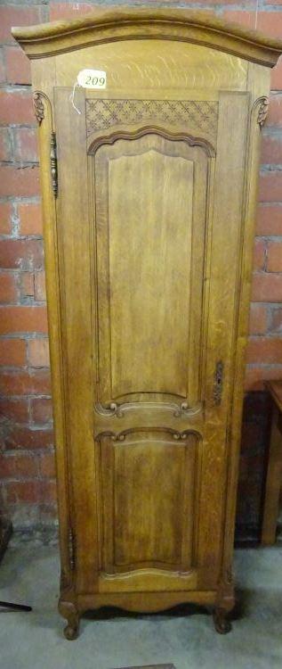 2 oak antique wood cabinets with shelves inside. Black Bedroom Furniture Sets. Home Design Ideas