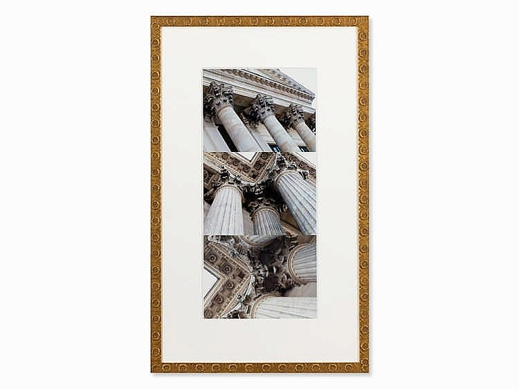 Victor Barcy, 3 C-Prints, Columns, Different Angles, c. 2010