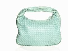 Bottega Veneta, Mint Green Hand Bag Intrecciato Hobo, c. 2000s