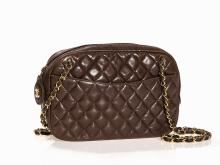 Chanel, Quilted Lambskin Chain Shoulder Bag with Zipper,1989-91