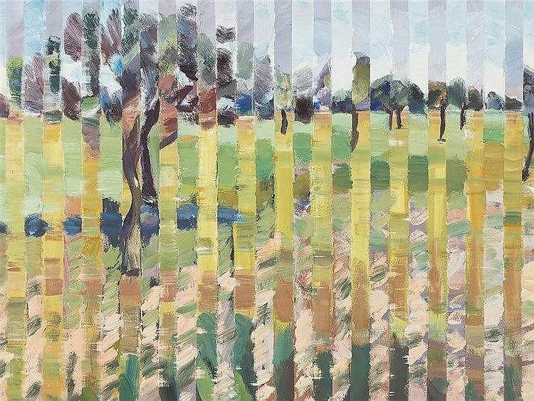 Heinz Greissing (b. 1933), Tree, Oil, 1996